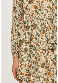 Vila - Sukienka. Okazja: na co dzień. Kolor: zielony. Długość rękawa: długi rękaw. Typ sukienki: proste. Styl: casual