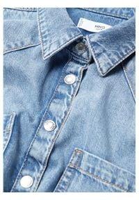 mango - Mango Koszula Sira 87084017 Niebieski Regular Fit. Kolor: niebieski