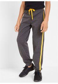 Spodnie chłopięce dresowe (2 pary) bonprix czarny + antracytowy melanż. Kolor: czarny. Materiał: dresówka. Wzór: melanż