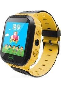 Smartwatch PDS Q1 Czarno-żółty. Rodzaj zegarka: smartwatch. Kolor: żółty, wielokolorowy, czarny