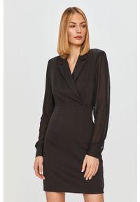 Czarna sukienka Silvian Heach mini, na co dzień