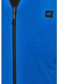 Niebieska bluza rozpinana 4f na co dzień, casualowa, z kapturem
