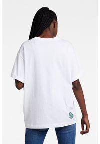 G-Star RAW - G-Star Raw - T-shirt bawełniany x Snoop Dogg. Okazja: na co dzień. Kolor: biały. Materiał: bawełna. Wzór: nadruk. Styl: casual