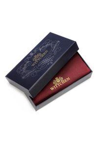 Czerwony portfel Wittchen w kolorowe wzory