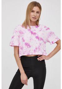 Volcom - T-shirt bawełniany. Kolor: różowy. Materiał: bawełna