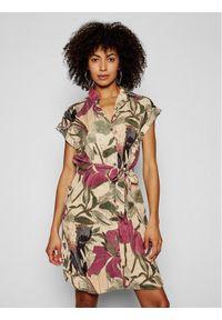 Sukienka Desigual koszulowa, w kolorowe wzory