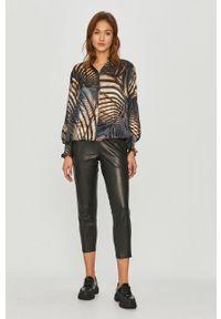 Czarne spodnie materiałowe AllSaints casualowe, na co dzień