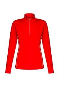Czerwony sweter Descente z golfem, na zimę