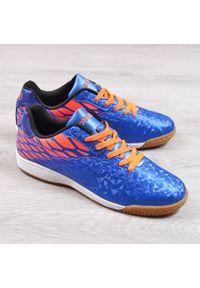 Buty sportowe męskie halówki niebieskie Atletico. Kolor: niebieski. Materiał: skóra ekologiczna