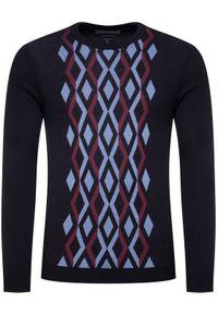 Niebieski sweter klasyczny Roy Robson
