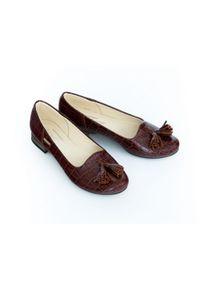 Baleriny Zapato w kolorowe wzory, boho, do pracy