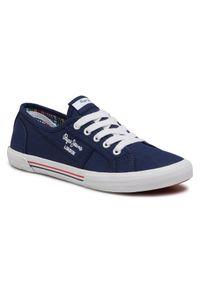 Pepe Jeans Tenisówki Aberlady Ecobass PLS31193 Granatowy. Kolor: niebieski