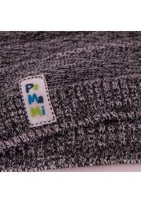 Wiosenna czapka chłopięca PaMaMi - Ciemnoszary. Kolor: szary. Materiał: bawełna, elastan. Sezon: wiosna