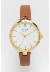 Kate Spade - Zegarek. Kolor: brązowy. Materiał: skóra, materiał