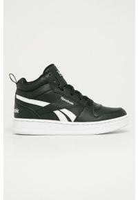 Czarne buty sportowe Reebok Classic z cholewką, na sznurówki, Reebok Royal