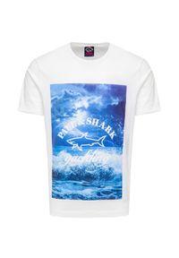 Paul and Shark - T-shirt PAUL&SHARK. Materiał: bawełna, prążkowany. Wzór: nadruk