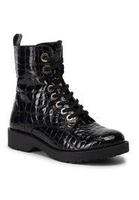 Czarne buty trekkingowe Lasocki z cholewką