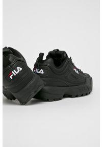 Czarne buty sportowe Fila z cholewką