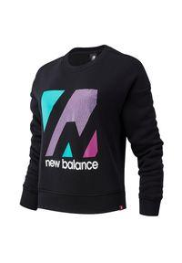 Bluza sportowa New Balance z nadrukiem, z długim rękawem