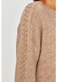 Beżowy sweter Answear Lab wakacyjny, z długim rękawem, długi