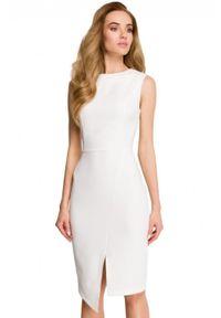 Style - Dopasowana sukienka o klasycznym kroju. Materiał: elastan. Długość rękawa: bez rękawów. Typ sukienki: dopasowane. Styl: klasyczny