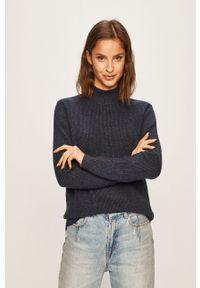Niebieski sweter Vila na co dzień, casualowy