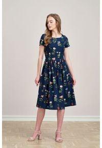 Marie Zélie - Sukienka Melania Angelica. Materiał: tkanina, bawełna, wiskoza, materiał. Długość rękawa: krótki rękaw