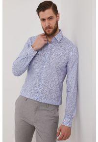 Niebieska koszula BOSS długa, z długim rękawem