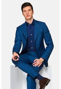 Lancerto - Garnitur Granatowy Barcelos. Kolor: niebieski. Materiał: poliester, wiskoza, tkanina, wełna. Wzór: kolorowy