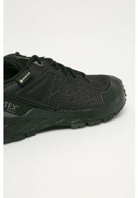 Czarne buty sportowe Reebok Gore-Tex, z okrągłym noskiem, na średnim obcasie