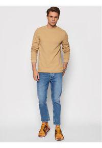 Calvin Klein Jeans Sweter J30J316610 Brązowy Regular Fit. Kolor: brązowy