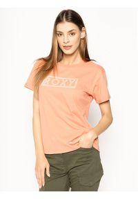 Pomarańczowy t-shirt Roxy