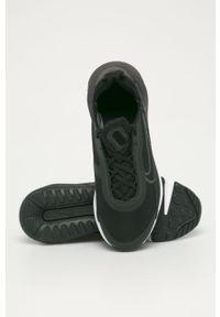 Czarne buty sportowe Nike Kids z okrągłym noskiem, z cholewką, Nike Air Max
