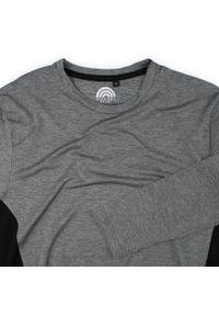 Szary T-shirt (Koszulka), Długi Rękaw, Longsleeve -Brave Soul- Męski, Termoaktywny, Wyszczuplający. Okazja: na co dzień. Kolor: szary. Materiał: poliester, elastan. Długość rękawa: długi rękaw. Długość: długie. Styl: sportowy, casual