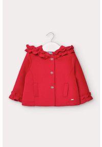 Czerwony płaszcz Mayoral z kapturem, na co dzień