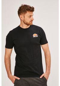 Czarny t-shirt Ellesse casualowy, z nadrukiem, na co dzień