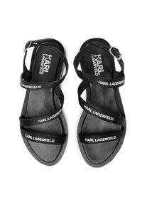 Czarne sandały Karl Lagerfeld na co dzień, casualowe