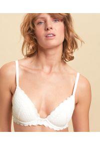 Cherie Cherie Biustonosz Nr2 - Push-Up Z Głębokim Dekoltem - 65B - Surowy - Etam. Materiał: koronka, poliamid. Rodzaj stanika: push-up. Wzór: koronka