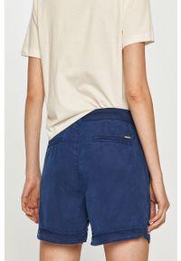 Niebieskie szorty Pepe Jeans na co dzień, gładkie, casualowe