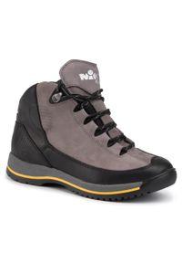 Szare buty trekkingowe Nik trekkingowe