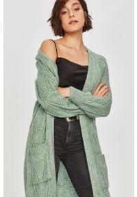 Miętowy sweter rozpinany Answear Lab wakacyjny, na co dzień