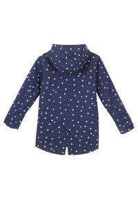 Niebieski płaszcz bonprix w kropki