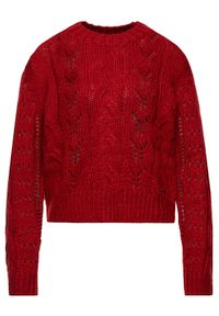 Czerwony sweter klasyczny Pepe Jeans