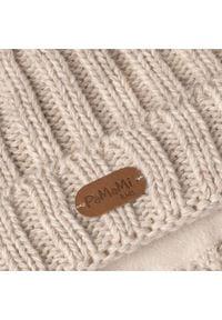 Czapka dziecięca z wywinięciem PaMaMi - Beżowy. Kolor: beżowy. Materiał: poliamid, akryl