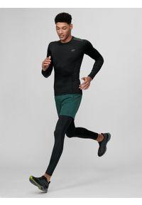 Zielone spodenki sportowe 4f na fitness i siłownię
