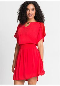 Czerwona sukienka bonprix mini, na lato