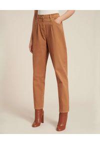 Luisa Spagnoli - LUISA SPAGNOLI - Brązowe jeansy Otris. Kolor: brązowy