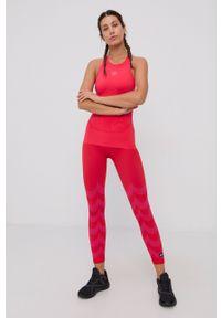Adidas by Stella McCartney - adidas by Stella McCartney - Top. Kolor: różowy. Materiał: dzianina, materiał. Wzór: gładki