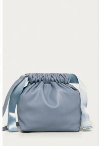Pieces - Torebka. Kolor: niebieski. Rodzaj torebki: na ramię