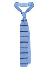 Niebieski krawat Lancerto casualowy, na co dzień